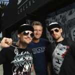 Benji Madden, Rusty Pistachio & Joel Madden at DCMA in Los Angeles, CA
