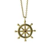 18K Gold Ships Wheel 1