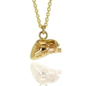 Anatomical Gold Heart 1