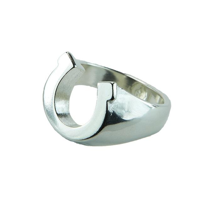 sterling silver horseshoe ring pnut