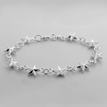 Sterling Silver Mini Star Bracelet