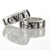 Silver Word Rings 1