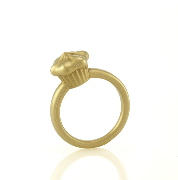 Solid Gold Cupcake Ring