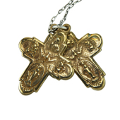 Double-Bronze-Cross-Necklace 1 web